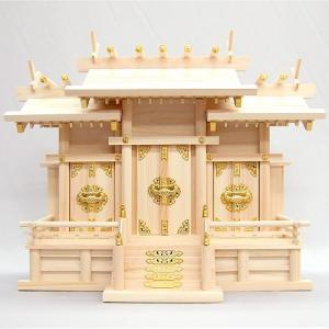 神棚(お宮) 屋根違三社 中|takita