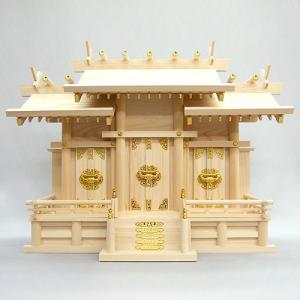 神棚(お宮) 屋根違三社 大|takita