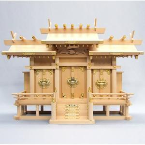 神棚(お宮) 椽束造り屋根違い三社|takita