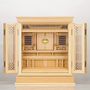 祖霊舎 神徒壇 上置き型 20号(杜印) 桧材(御霊舎 祭壇宮) 国産(日本製)|takita