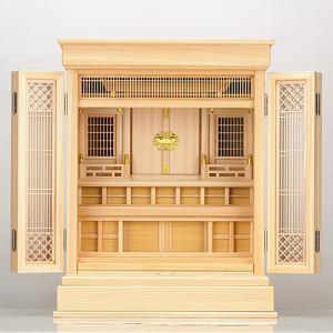 祖霊舎 神徒壇 上置き型 23号(杜印) 桧材(御霊舎 祭壇宮) 国産(日本製)|takita