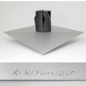 清水九兵衛 七代清水六兵衛 『PACK 5』 銘有 抽象・前衛彫刻 オブジェ 現代美術 アルミ合金|takiya-art