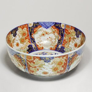 古伊万里『 色絵金襴手 大鉢 』 径約29cm 大作 金彩 古陶磁 古美術 時代|takiya-art