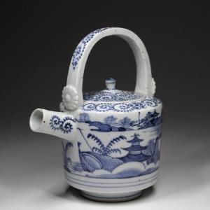 古伊万里『 山水図蛸唐草文銚子1 』中国 古陶磁 古美術 時代|takiya-art