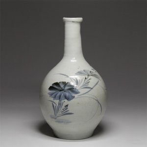 古伊万里『 染付草花文瓶 』花鳥 秋草 古陶磁 古美術 酒器 花器 花生|takiya-art