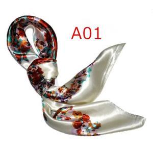 華麗で富貴な7シルク調 花柄90角正方形大判スカーフ (A1〜A10)|takouya|02