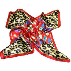 華麗で富貴な7シルク調 花柄90角正方形大判スカーフ (A1〜A10)|takouya|11
