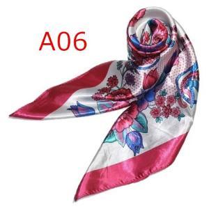 華麗で富貴な7シルク調 花柄90角正方形大判スカーフ (A1〜A10)|takouya|12
