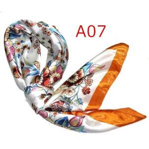 華麗で富貴な7シルク調 花柄90角正方形大判スカーフ (A1〜A10)|takouya|14