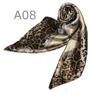 華麗で富貴な7シルク調 花柄90角正方形大判スカーフ (A1〜A10)|takouya|16