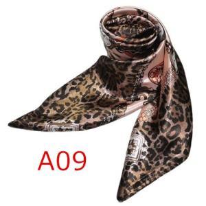 華麗で富貴な7シルク調 花柄90角正方形大判スカーフ (A1〜A10)|takouya|18