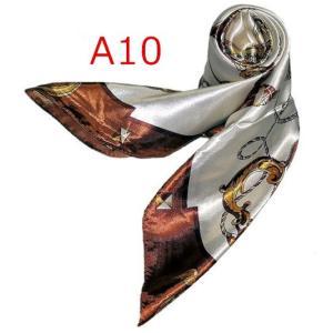 華麗で富貴な7シルク調 花柄90角正方形大判スカーフ (A1〜A10)|takouya|20