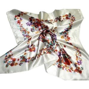 華麗で富貴な7シルク調 花柄90角正方形大判スカーフ (A1〜A10)|takouya|03
