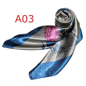 華麗で富貴な7シルク調 花柄90角正方形大判スカーフ (A1〜A10)|takouya|06
