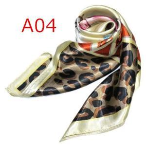 華麗で富貴な7シルク調 花柄90角正方形大判スカーフ (A1〜A10)|takouya|08