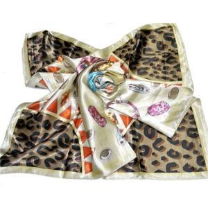 華麗で富貴な7シルク調 花柄90角正方形大判スカーフ (A1〜A10)|takouya|09