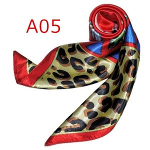 華麗で富貴な7シルク調 花柄90角正方形大判スカーフ (A1〜A10)|takouya|10