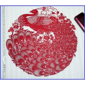 切り絵 (くじゃく)【中国雑貨 】多幸屋切り絵販売|takouya