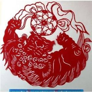 切り絵 (獅子舞)【中国雑貨 】多幸屋切り絵販売|takouya