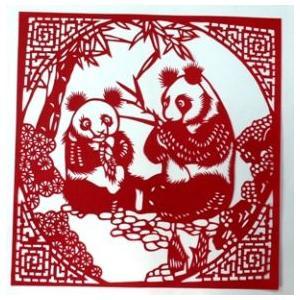 切り絵 (パンダ)【中国雑貨 】多幸屋切り絵販売|takouya