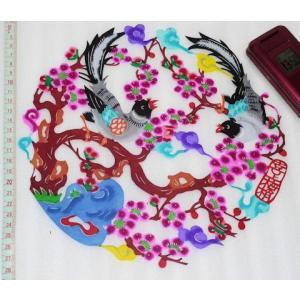 切り絵(喜上眉梢)中国民間芸術切り紙細工|takouya