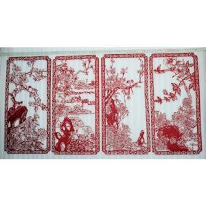 切り絵・(4枚セット)中国民間芸術切り紙細工|takouya