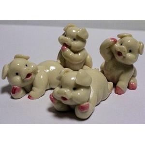 小豚のグッズ (4Pセット) 多幸屋の面白い中国雑貨|takouya
