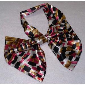 ☆最短で翌日お届け☆ 便利なリボン型スカーフ★美品激安!厳選したシルク調スカーフ20種★|takouya|03