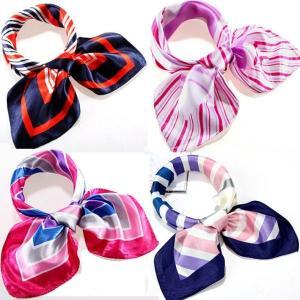 厳選人気柄スカーフ 企業制服向けスカーフ 60cm正方形シルク調スカーフ|takouya