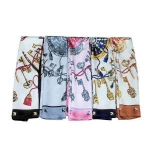 華麗な高級シルク調 花柄90角正方形大判スカーフ|takouya