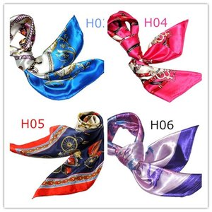 華麗で富貴なシルク調 花柄90角正方形大判スカーフ (H1〜H10)|takouya