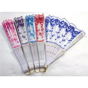 バレエ扇子バレエ用 レース扇子  刺繍がされた布扇子|takouya