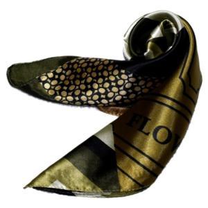 かわいいシルク調スカーフ 中判 60cm正方形スカーフリボン 事務服 企業制服スカーフ  手首に、デニムに、バッグに、無限に使える人気柄スカーフ|takouya