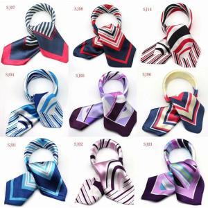 カラフル艶やかなシルク調スカーフ シルクロードの起点【西安】からの贈り物 美品激安 60角企業制服スカーフ|takouya
