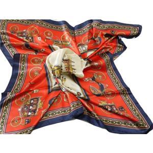 華麗な上品シルク調スカーフ 90角正方形大判レディース スカーフ 贈り物 ギフト人気な花柄 春夏秋冬、年中に使える スカーフ(I6〜10)|takouya