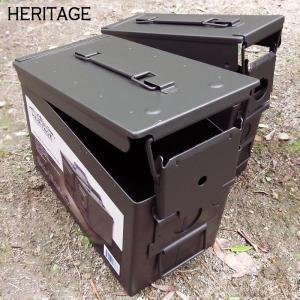 HERITAGE メタルボックス アンモボックス 2個セット|takt