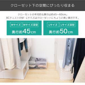 (3個セット)収納ケース 衣装ケース 衣装ボックス 透明 衣類収納 収納 プラスチック チェスト BC-L 奥行50cm 浅型 ホワイト/クリア アイリスオーヤマ|takuhaibin|06