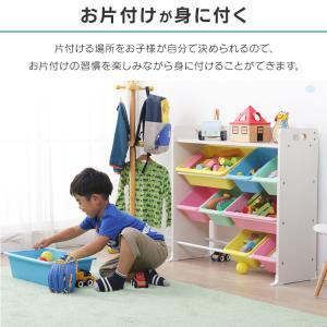 おもちゃ 収納 おもちゃ箱 トイハウスラック おもちゃ収納 収納ボックス 天板付キッズトイハウスラック TKTHR-39 アイリスオーヤマ|takuhaibin|05