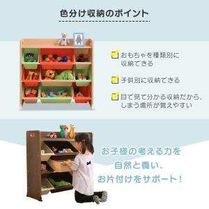 おもちゃ 収納 おもちゃ箱 トイハウスラック おもちゃ収納 収納ボックス 天板付キッズトイハウスラック TKTHR-39 アイリスオーヤマ|takuhaibin|06