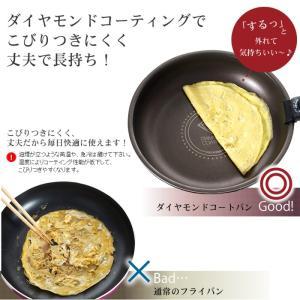 フライパン セット 12点 ガス火専用 焦げ付きにくい 調理器具 ダイヤモンドコートパン H-GS-SE12 アイリスKITCHENCHEF|takuhaibin|03