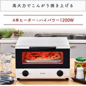 トースター 4枚 おしゃれ オーブントースター タイマー付き ハイパワー AC100V(50/60Hz共用) 最大1200W EOT-1203C ホワイト シンプル アイリスオーヤマ|takuhaibin|02