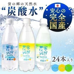 蛍の郷の天然水スパークリング 炭酸水 まとめ買い 500ml × 24本 強炭酸水 九州産の天然水使用 国産
