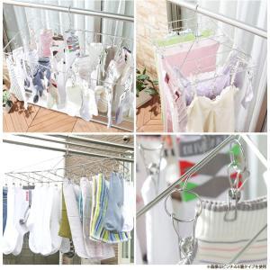 ピンチハンガー ステンレス 洗濯干し 物干し オールステンレス (3個セット) ピンチ34個付き 角ハンガーハンガー 洗濯ハンガー 洗濯バサミ|takuhaibin|02