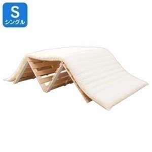 ひのき 檜 すのこベッド シングル 折りたたみ 木製 折り畳み 4つ折りの写真