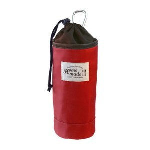 カジュアルなデザインのボトルホルダーです。 フックが付いているのでランチバッグなどに引っかけて持ち歩...