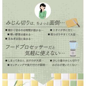 フードチョッパーミニ 手動 キッチン キッチンツール 簡単 調理 ホワイト CTC-A363 (D)|takuhaibin|02
