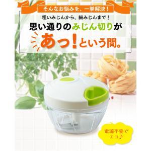 フードチョッパーミニ 手動 キッチン キッチンツール 簡単 調理 ホワイト CTC-A363 (D)|takuhaibin|03