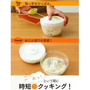 チョッパー フードチョッパーミニ 手動 キッチン キッチンツール 簡単 調理 ホワイト CTC-A363 (D)|takuhaibin|05