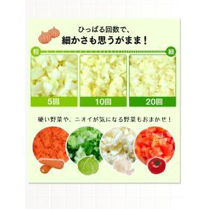 フードチョッパーミニ 手動 キッチン キッチンツール 簡単 調理 ホワイト CTC-A363 (D)|takuhaibin|06