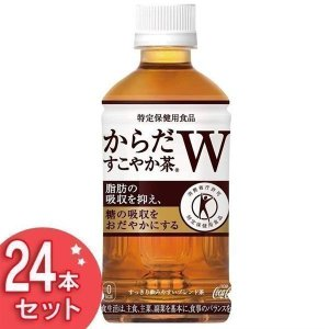 24本セット からだすこやか茶W 350mlPET コカ・コーラ コカコーラ (代引不可)(TD) takuhaibin
